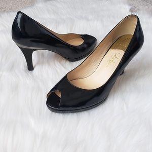 Cole Haan heels peep-toe patent leather pump 8.5